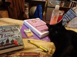 Book cuddling